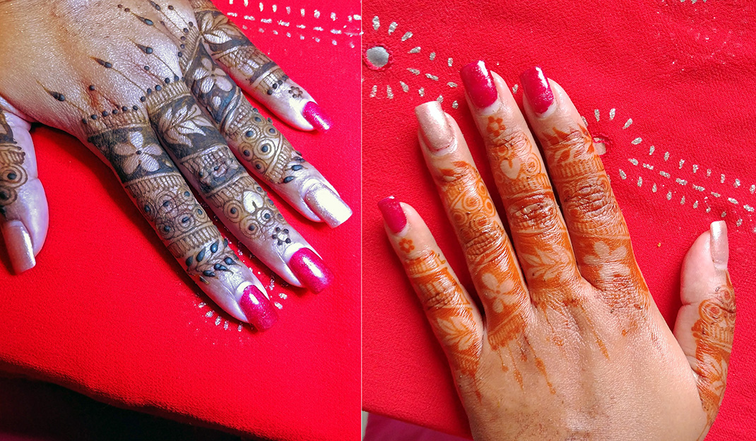 remove dry henna with oil